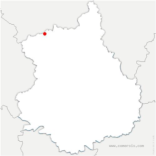 carte de localisation de Montigny-sur-Avre