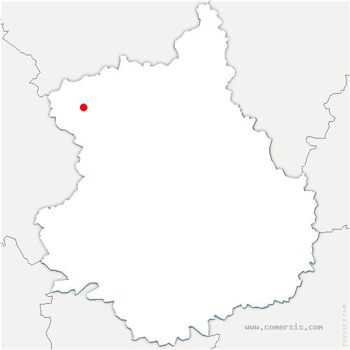 carte de localisation de Morvilliers