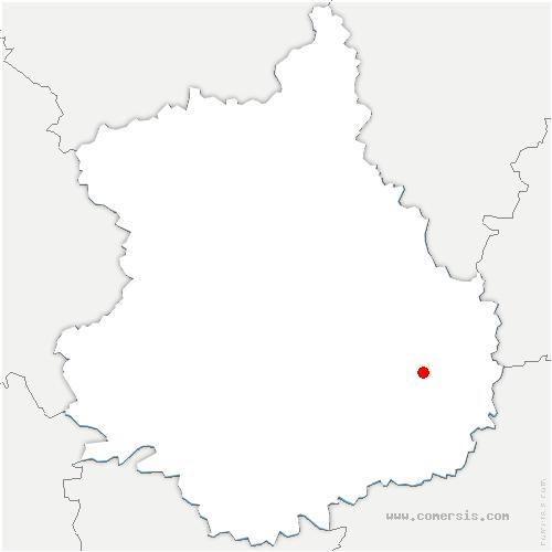 carte de localisation de Moutiers