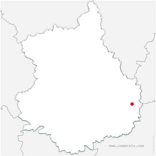 carte de localisation de Neuvy-en-Beauce