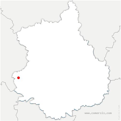 carte de localisation de Nogent-le-Rotrou