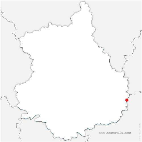 carte de localisation de Oinville-Saint-Liphard