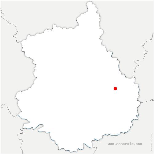 carte de localisation de Ouarville