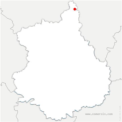 carte de localisation de Oulins