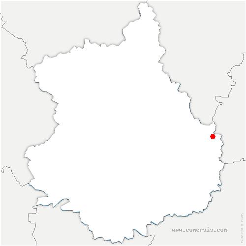 carte de localisation de Oysonville