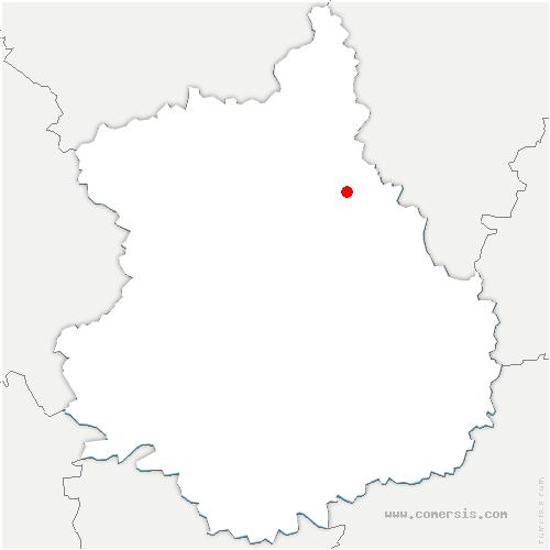 carte de localisation de Pierres