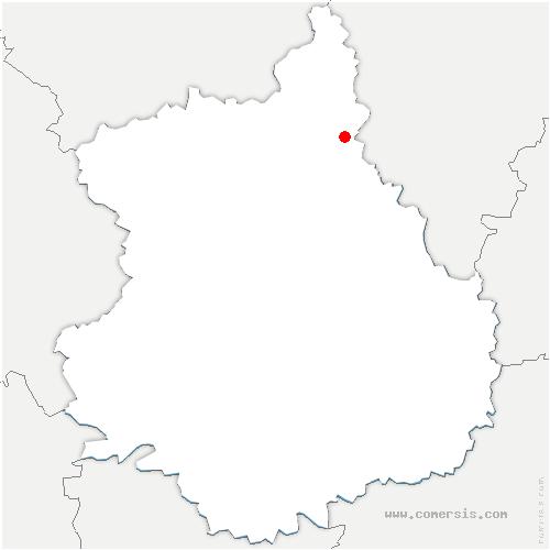 carte de localisation de Pinthières