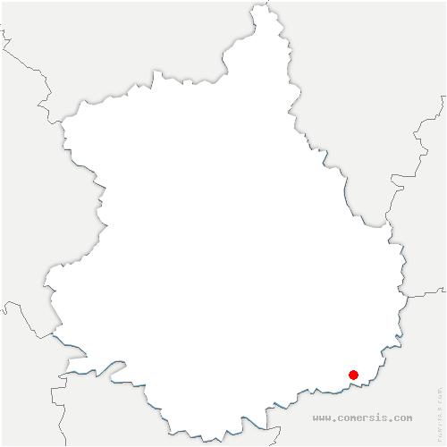 carte de localisation de Poupry