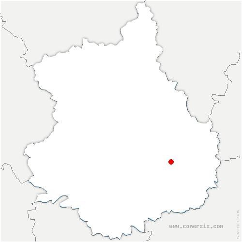 carte de localisation de Prasville