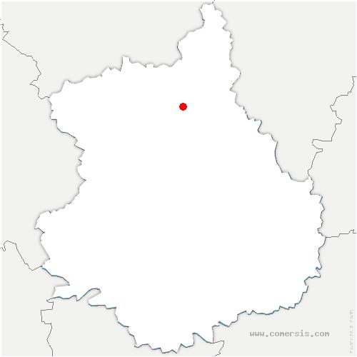carte de localisation de Puiseux