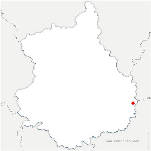 carte de localisation de Rouvray-Saint-Denis