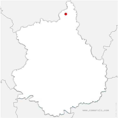 carte de localisation de Rouvres