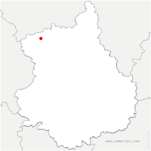 carte de localisation de Rueil-la-Gadelière