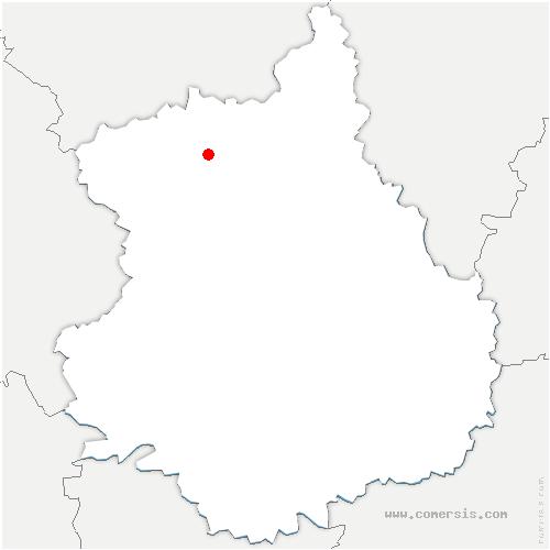 carte de localisation de Saint-Ange-et-Torçay