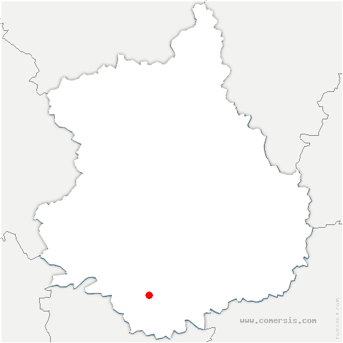 carte de localisation de Saint-Denis-Lanneray