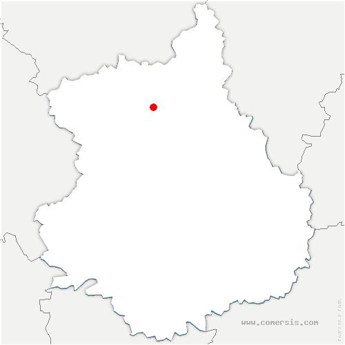 carte de localisation de Saint-Jean-de-Rebervilliers
