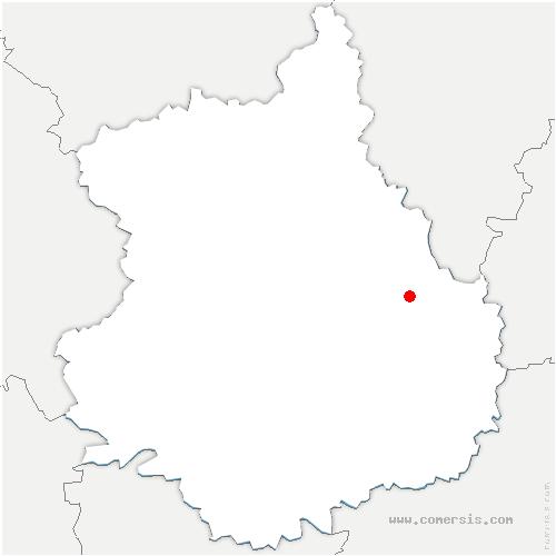 carte de localisation de Saint-Léger-des-Aubées