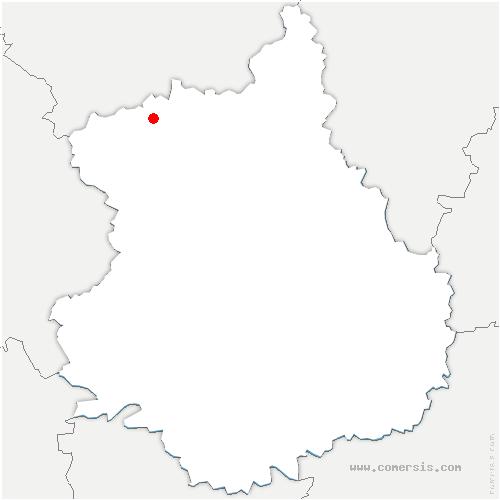 carte de localisation de Saint-Lubin-de-Cravant