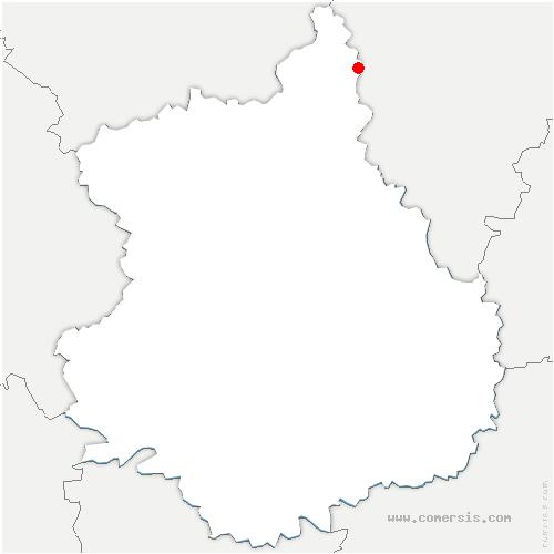 carte de localisation de Saint-Lubin-de-la-Haye