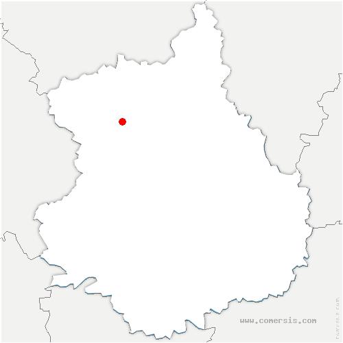 carte de localisation de Saint-Maixme-Hauterive