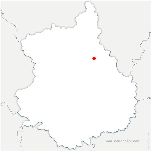carte de localisation de Saint-Piat