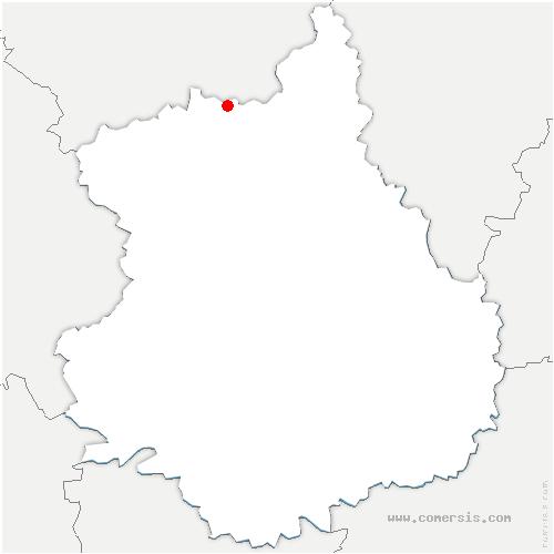 carte de localisation de Saint-Rémy-sur-Avre