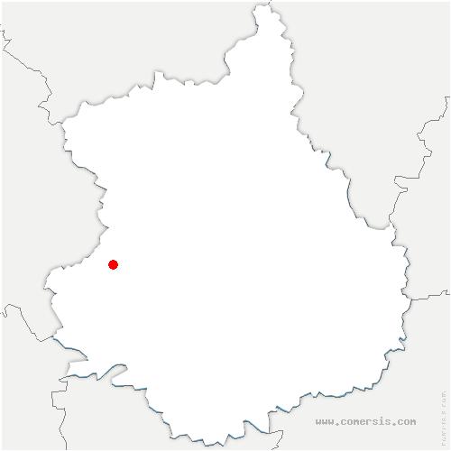 carte de localisation de Saintigny