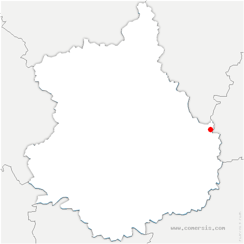 carte de localisation de Sainville