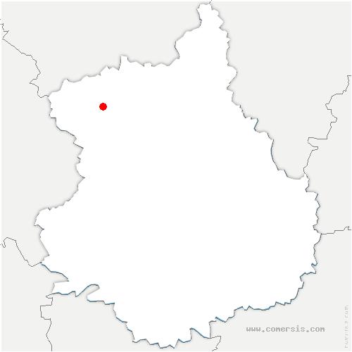 carte de localisation de Saucelle