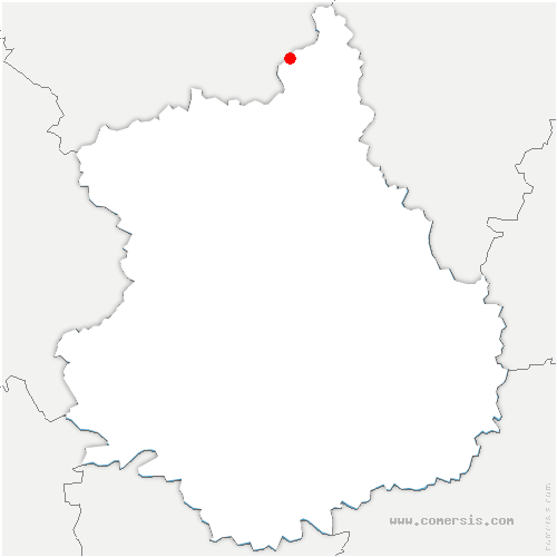 carte de localisation de Saussay