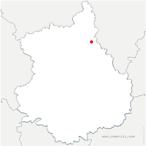 carte de localisation de Senantes
