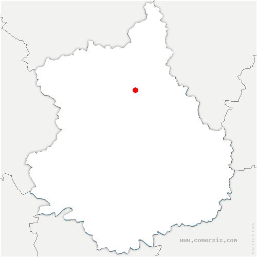 carte de localisation de Serazereux