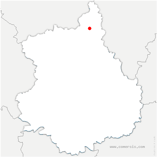 carte de localisation de Serville
