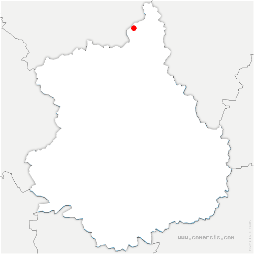 carte de localisation de Sorel-Moussel