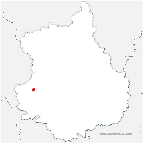 carte de localisation de Thiron-Gardais