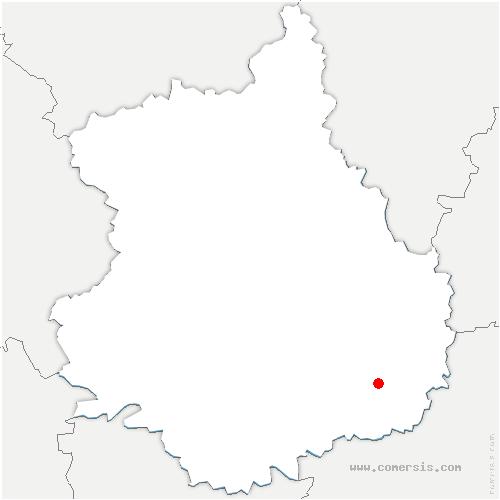 carte de localisation de Tillay-le-Péneux