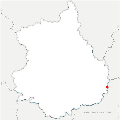 carte de localisation de Toury