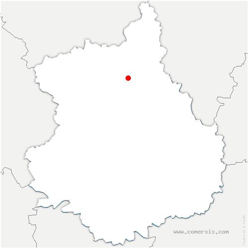 carte de localisation de Tremblay-les-Villages