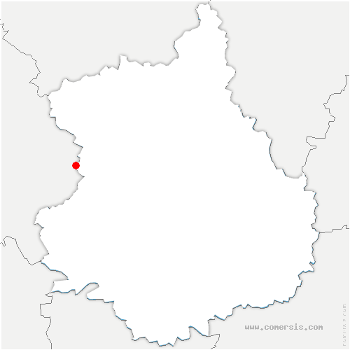 carte de localisation de Vaupillon