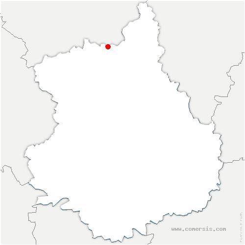 carte de localisation de Vert-en-Drouais