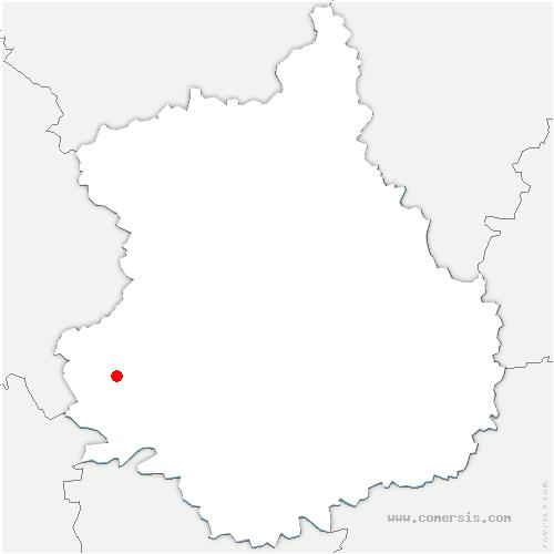 carte de localisation de Vichères