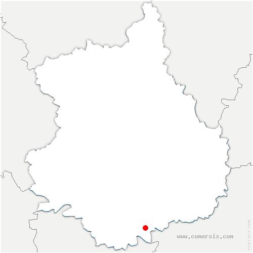 carte de localisation de Villemaury