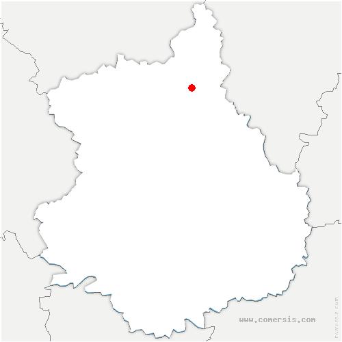 carte de localisation de Villemeux-sur-Eure