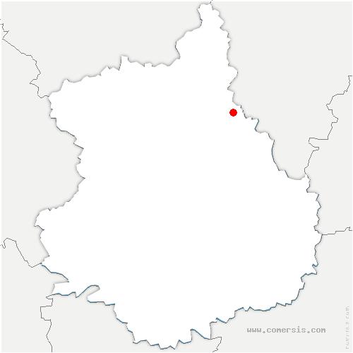 carte de localisation de Villiers-le-Morhier