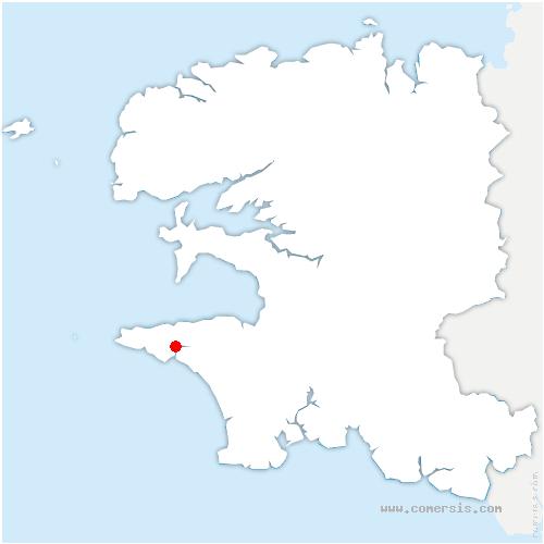carte de localisation de Audierne