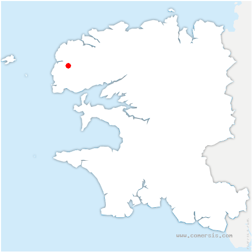 carte de localisation de Brélès