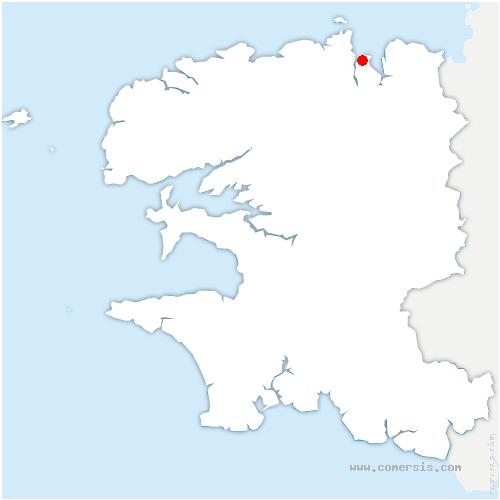 carte de localisation de Carantec