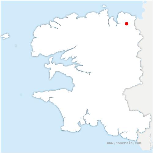 carte de localisation de Garlan