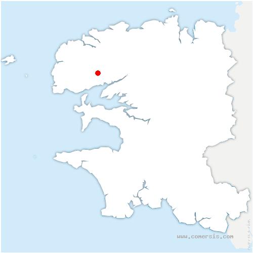 carte de localisation de Gouesnou