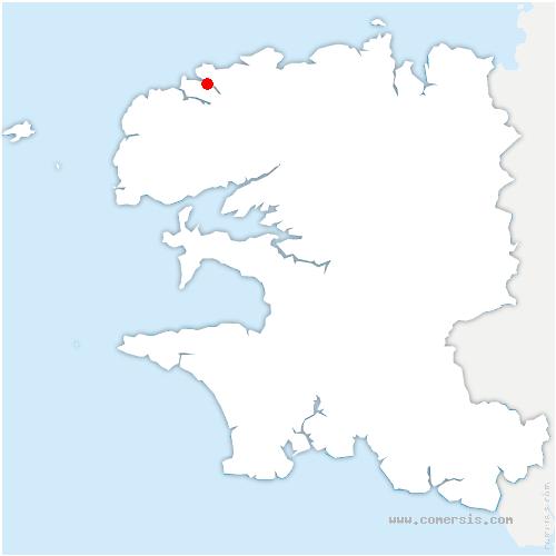 carte de localisation de Landéda